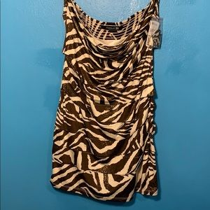 Forever 21 zebra glitter dolls kill mini dress